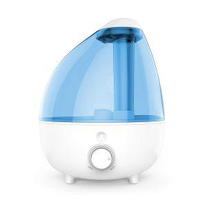 Ultrasonic evaporative humidifier