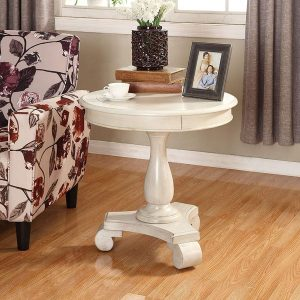 Wooden round accent table by ROUNDHILL FURNITURE