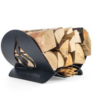 Indoor firewood carrier by NEST & NOOK