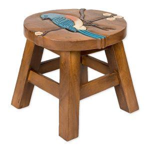 kids step stool with bluebird design
