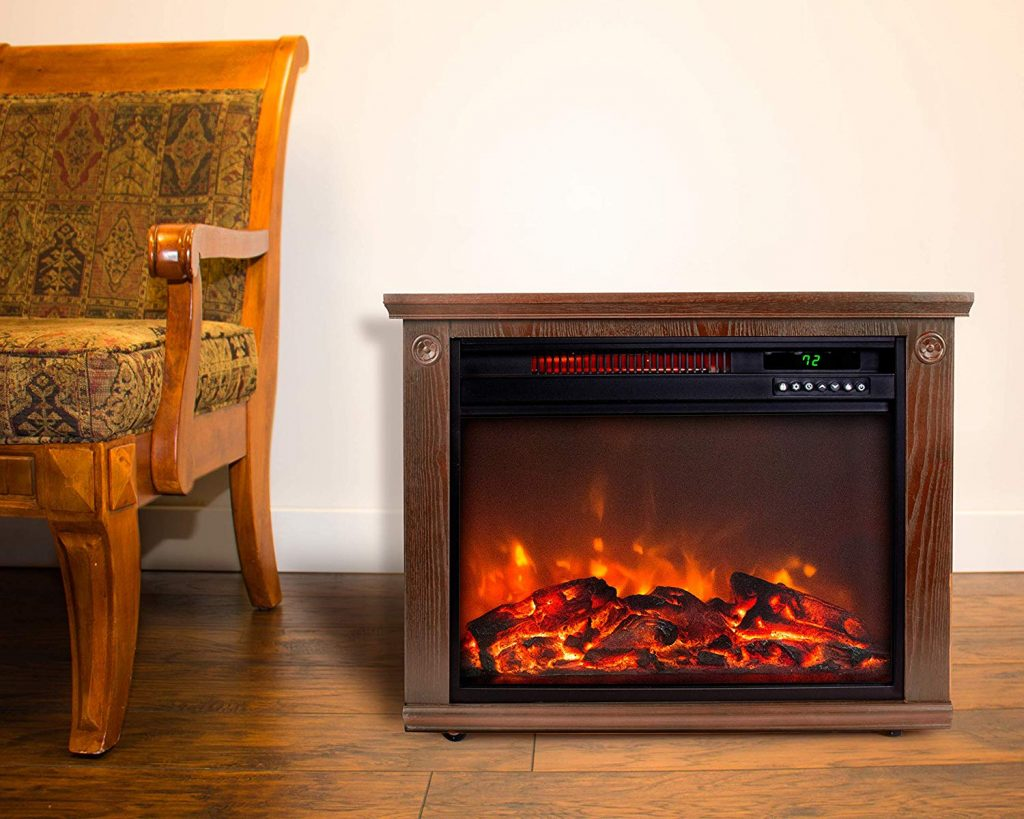 electric fireplace by lifesmart